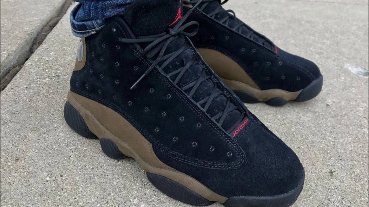 23bbaf4c657144 See What the  Olive  Air Jordan 13 Retro Looks Like On Foot - YouTube
