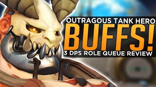 Overwatch: HUGE Tank Hero BUFF Reworks - Triple Damage Role Queue Review