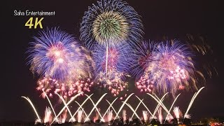 [4K Ultra HD] 2014 第83回土浦全国花火競技大会 土浦花火づくし Beautiful Fireworks Japan