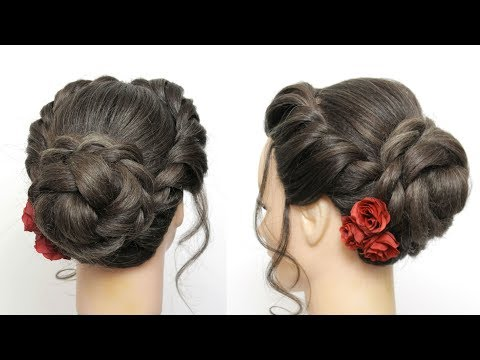 Braided Updo Tutorial. Wedding Prom Hairstyles For Long Hair