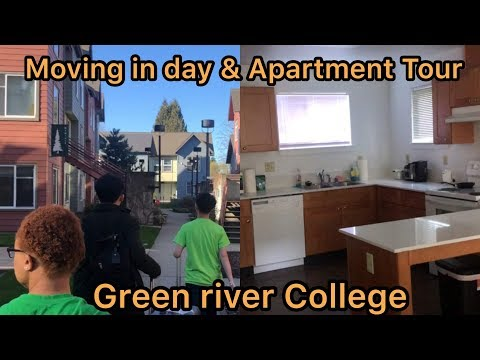 ARRIVAL, MOVE IN DAY AND APARTMENT TOUR| GREEN RIVER COLLEGE