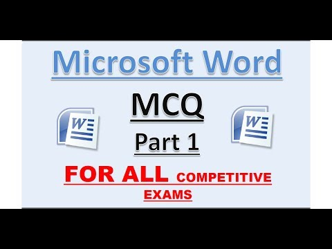 (Part 1) MS Word MCQ  | Detailed Explanation.