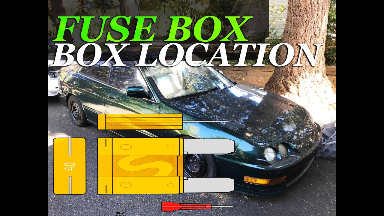 fuse box location on a 1994 - 2001 acura integra - youtube  youtube
