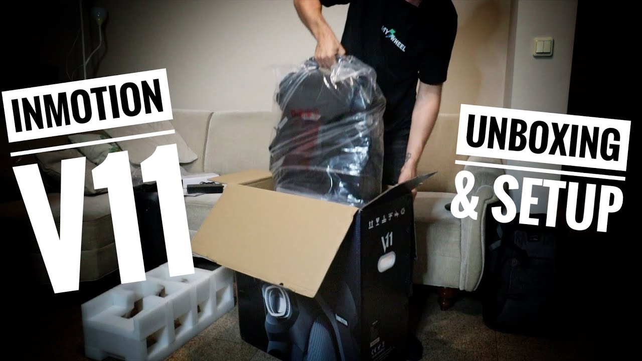 InMotion V11 Production Version - Unboxing and Setup - Electric Unicycle with Air Suspension