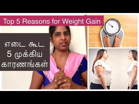 Reasons for Weight Gain ( English Subtitles) | எடை கூட 5 முக்கிய காரணங்கள்