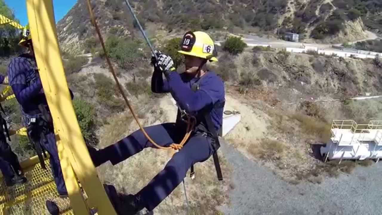 Rappelling 60ft Tower With A Figure Eight Plate