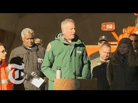 Watch Live: De Blasio Speaks About Snowstorm