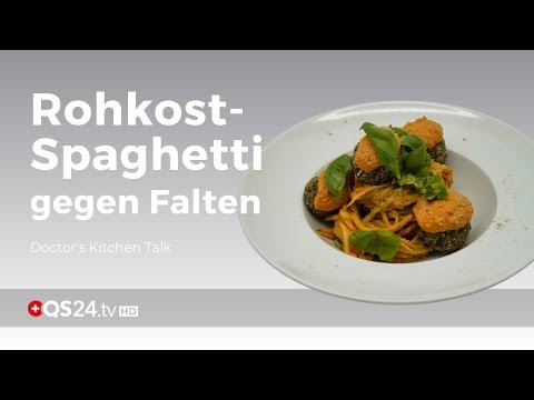 Rohkost-Spaghetti macht faltenfreie Haut
