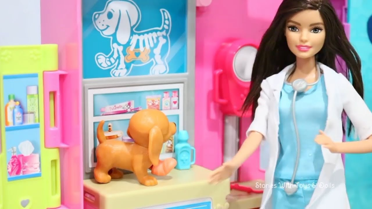 Barbie Pet Care Center Toys And Dolls Fun Opening Lol