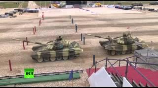 Финал танкового биатлона в рамках «АрМИ 2015»