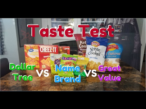 Dollar Tree vs Name Brand vs Great Value Taste Test