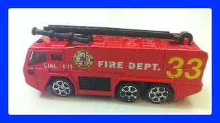 FIRE TRUCK - Fire Engine Truck For Kids, Fire Truck Siren, Firetruck Song by JeannetChannel