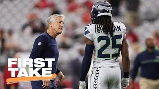 Pete carroll says richard sherman relationship has no issues | first take | may 5, 2017