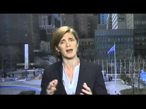 US Envoy to UN Samantha Power Warns Russia on Ukraine