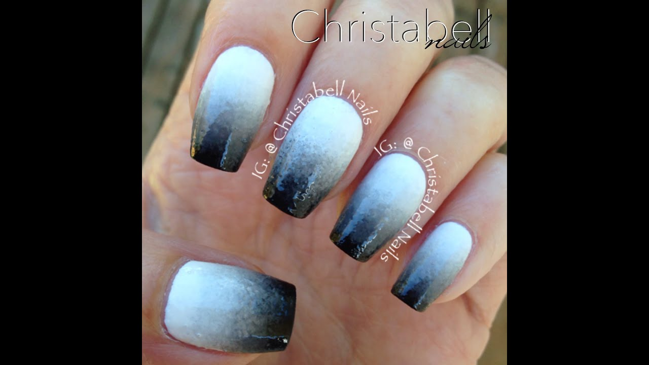 christabellnails sponge gradient ombre nails tutorial - youtube