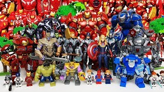 Avengers vs Armored Thanos Battle! Go~! Thor, Hulk, Iron Man, Spider-Man, Hulkbuster