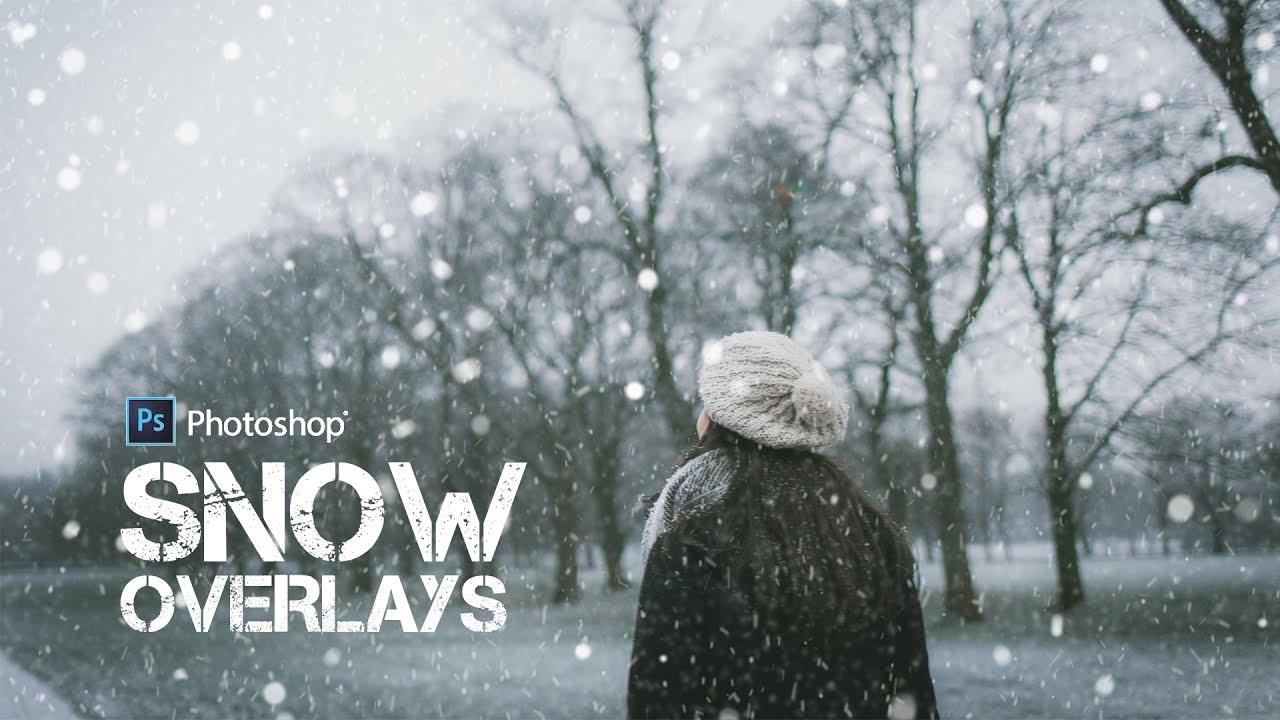 Free Snow Texture Overlays - Adding Snowfall to Photos in Photoshop
