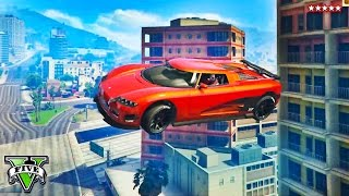 GTA 5 Online JUMPING OVER SKYSCRAPERS | Extreme Building Jumpers Racing | GTA V Online Funny Moments