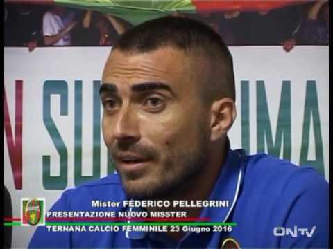 ONTV: La TERNANA FEMMINILE presenta il nuovo allenatore FEDERICO PELLEGRINI