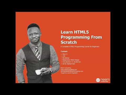 Learn HMTL 5 From Scratch Part 1