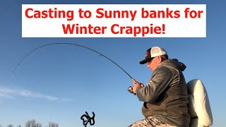 Try casting to sunny banks for Crappie on warm Winter days!