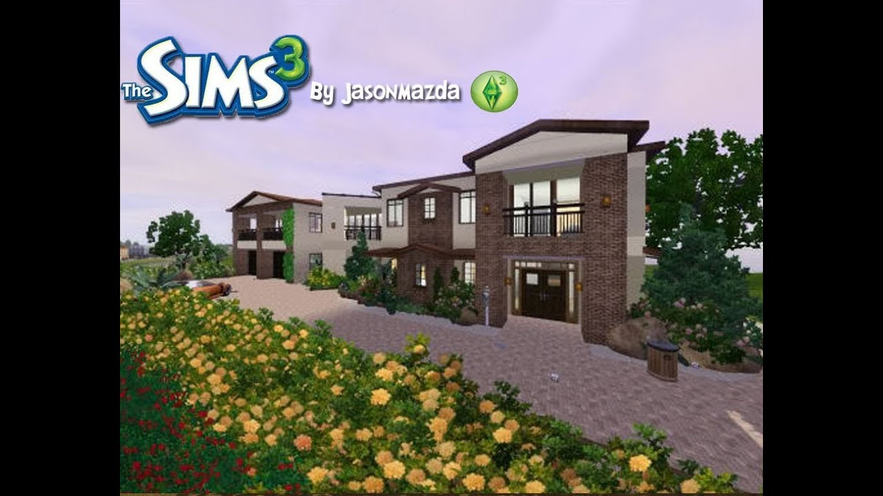 The Sims 3 House Designs Modernized Tuscan Estate Youtube
