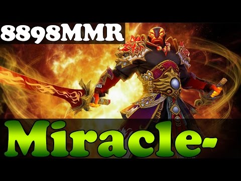 Dota 2 - Miracle- 8898MMR Plays Ember Spirit ROAD TO 9K MMR - Full Game - Ranked Match Gameplay