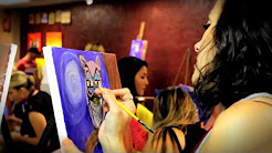 A Painting Party at The Emerald Cork Wine and Paint Studio