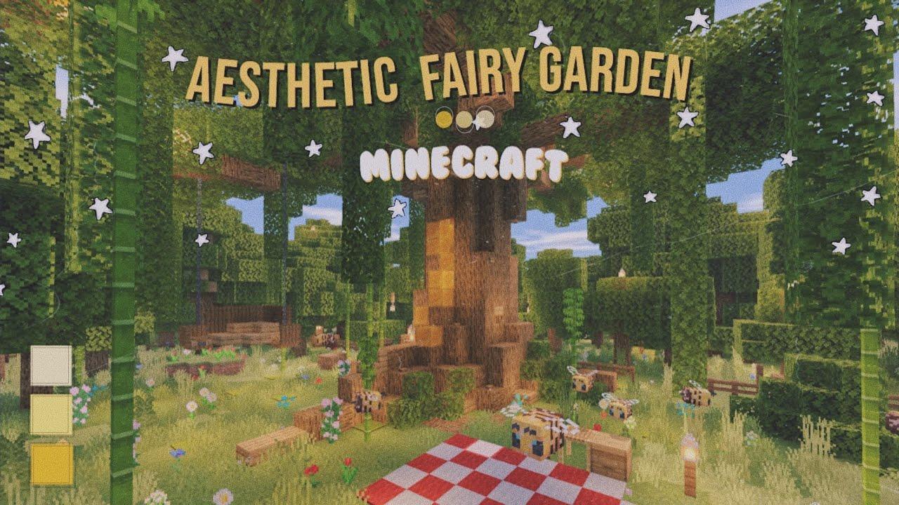 Aesthetic Fairy Garden 🧚♀️🌿 | Minecraft Speed Build - YouTube