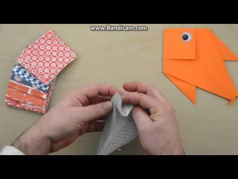 Kağızdan necə balıq düzəltmək olar.Origami balıq düzəltmək