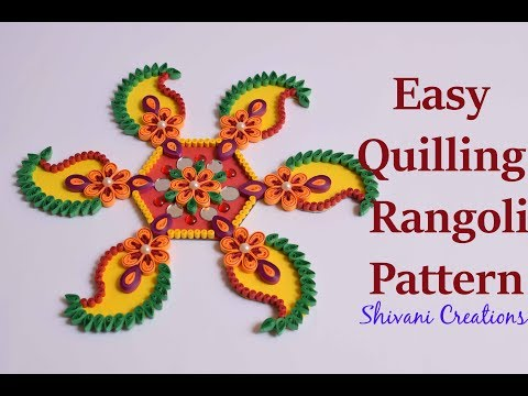 Easy Quilling Rangoli Pattern/Design/ DIY Quilling Rangoli for Diwali