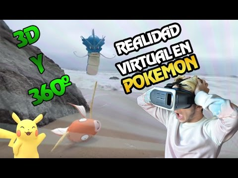 POKEMON EN 3D Y CON REALIDAD VIRTUAL!