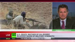 'US mega bomb usability limited, but makes dramatic show of force'   fmr CIA officer