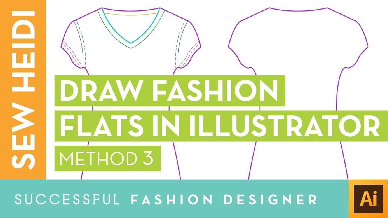Draw Fashion Sketches Aka Flats In Illustrator Courses Free Tutorials On Adobe Illustrator Tech Packs Freelancing For Fashion Designers