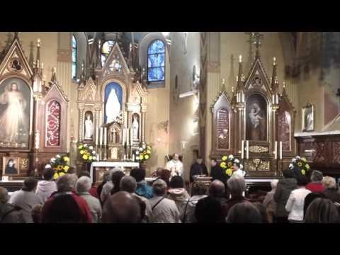 Przyjęcie relikwii św. Faustyny