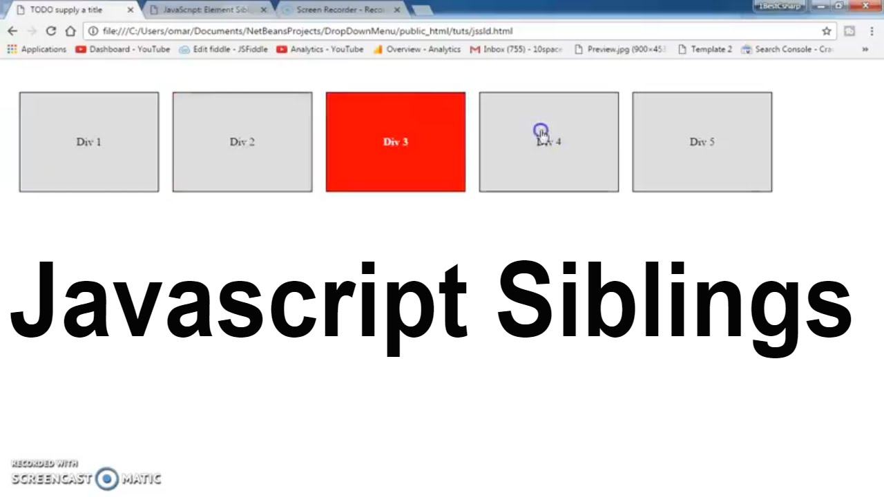 Javascript Siblings - Add Remove Class - Set Active DIV ...