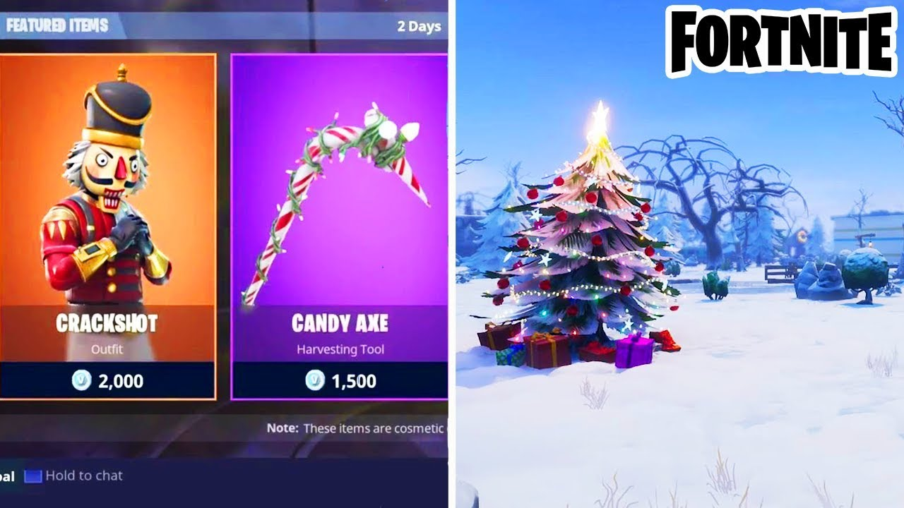All Christmas Skins Back In Item Shop New Snow Map Coming To