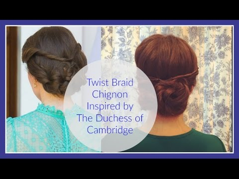 Twisted Braided Chignon (Duchess of Cambridge)