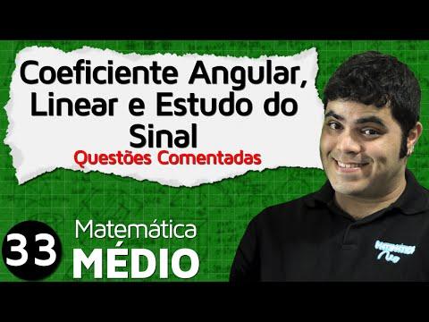 Coeficiente Angular e Linear da Função Afim - Questões Comentadas (Aula 6 de 6) | MEM #33