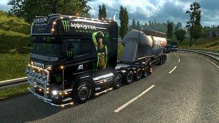 Euro Truck Simulator 2. Мод: Scania R. Много тюнинга! (Ссылка в описании)