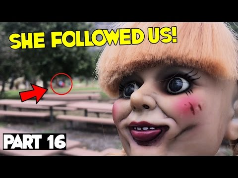 Evil Doll Annabelle mailed to us FREAKS US OUT and haunts us like a SCARY CLOWN  Part 16