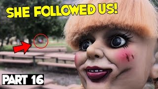 Evil Doll Annabelle mailed to us FREAKS US OUT and haunts us like a SCARY CLOWN - Part 16