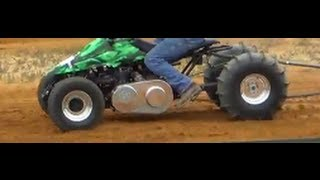 Snowmobile Engine On A Quad - Dirt Drag