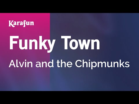 Karaoke Funky Town  Alvin and the Chipmunks *