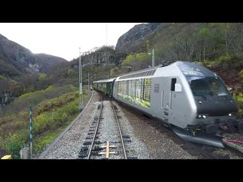 Train Driver's View: Flåm - Myrdal (Trains meet at Berekvam)