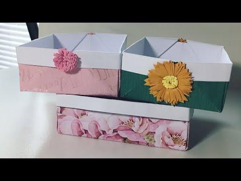 (( ASMR )) Crafts : Origami Box ( Paper Folding )