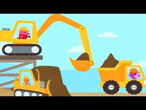 การ์ตูนเรียนรู้รถก่อสร้าง แม็คโคร รถบรรทุก รถตักดิน Trucks and Diggers