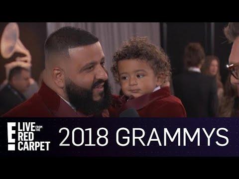DJ Khaled Brings His Son Asahd To The 2018 Grammy Awards | E! Red Carpet & Award Shows