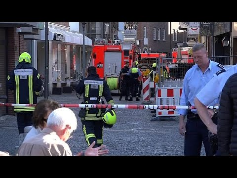 Several killed and injured as van driven into crowd in Muenster, Germany