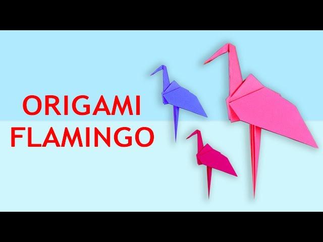 How To Make Origami Flamingo Origami Flamingo Instructions Origami